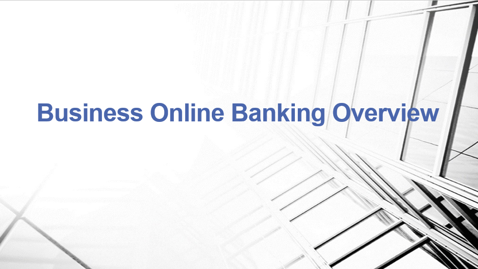 Business Online Banking Overview Video Screenshot